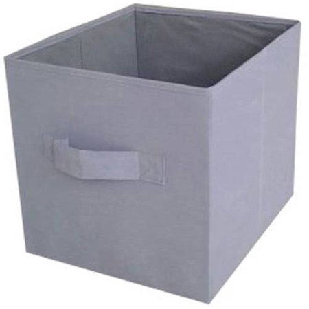 mainstays collapsible fabric storage cube set of 2 grey 12 5 x 12 5. Black Bedroom Furniture Sets. Home Design Ideas