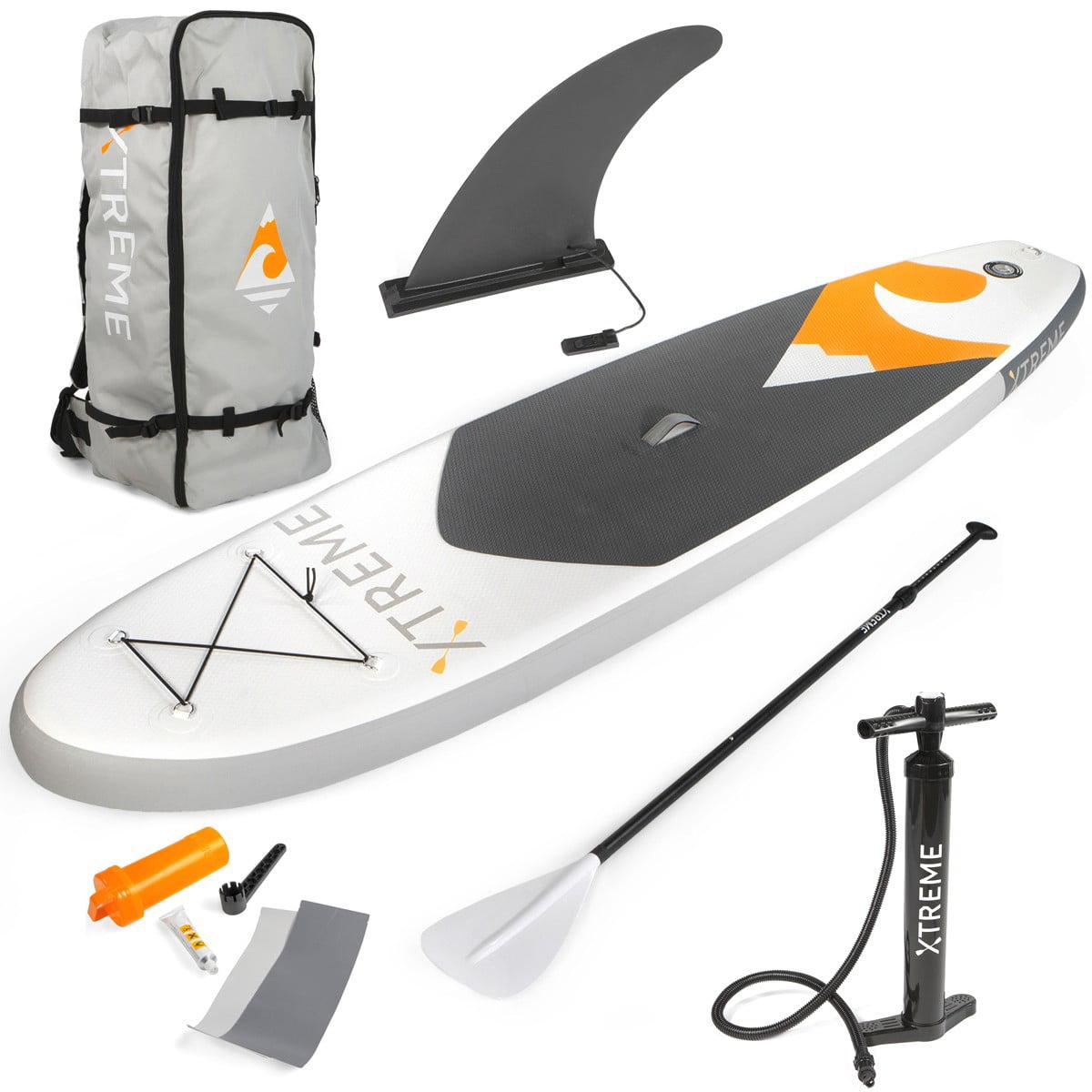 Xtreme 10ft Aqua SUP Paddle Board Inflatable StandUp PaddleBoard, Grey