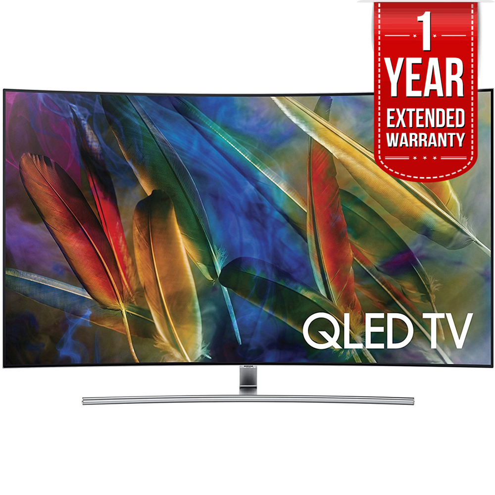 "Samsung Curved 55"" 4K Ultra HD Smart QLED TV 2017 Model (QN55Q7CAM) with 1 Year Extended Warranty by Samsung"