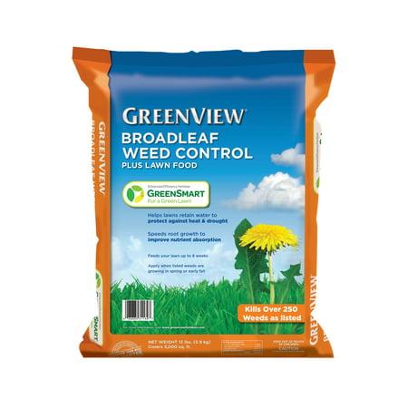 GreenView Broadleaf Weed Control Plus Lawn Food - 13 lb. - Covers 5,000 sq. ft.