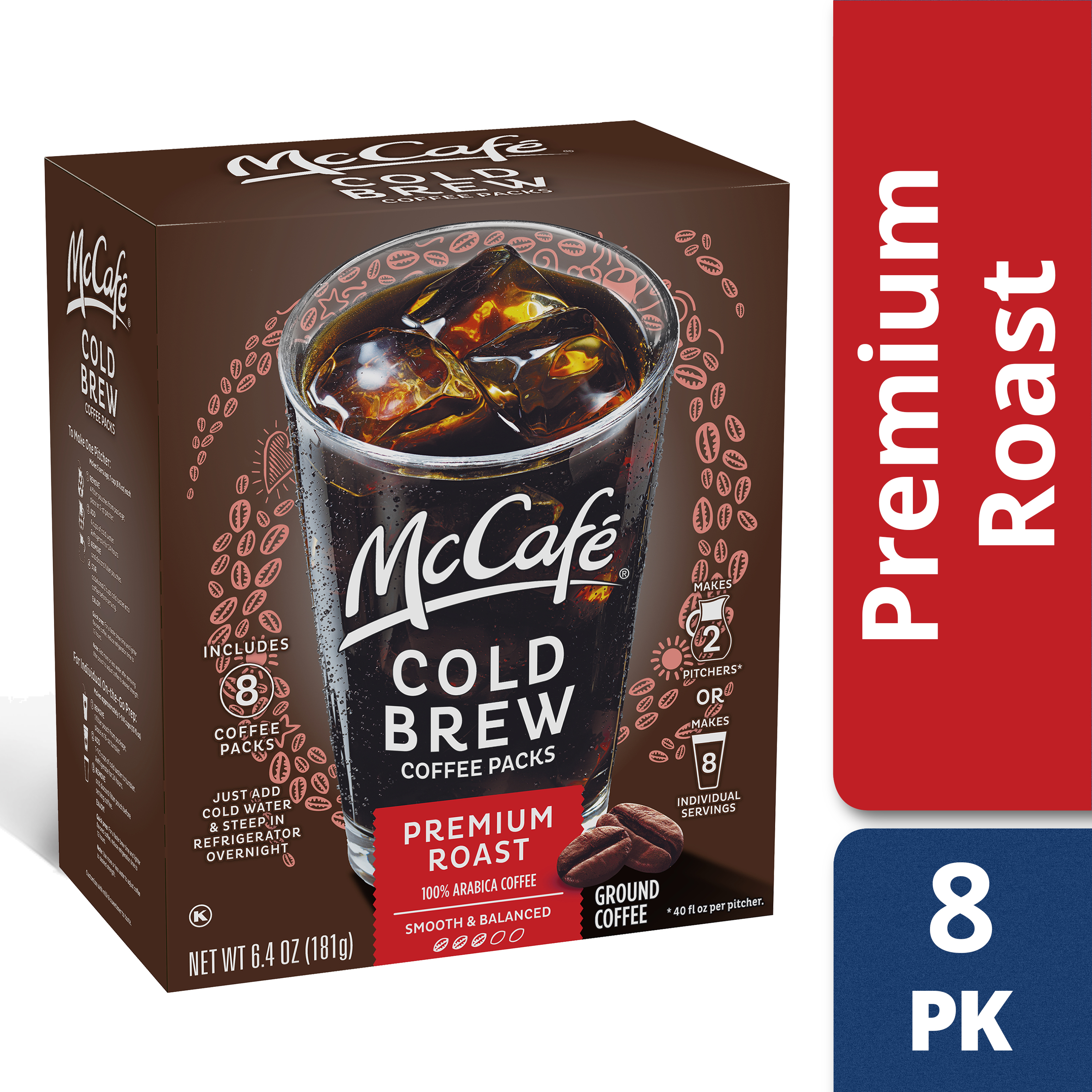 McCafe Cold Brew Light Roast Filter Packs 4 count