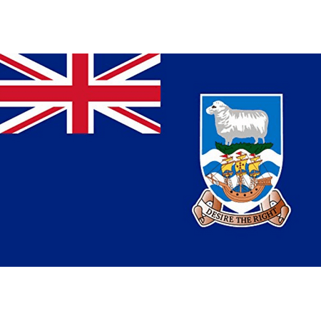 Falkland Islands - World Country National Flags 18x12 - Vinyl Print (Country Falkland Islands)