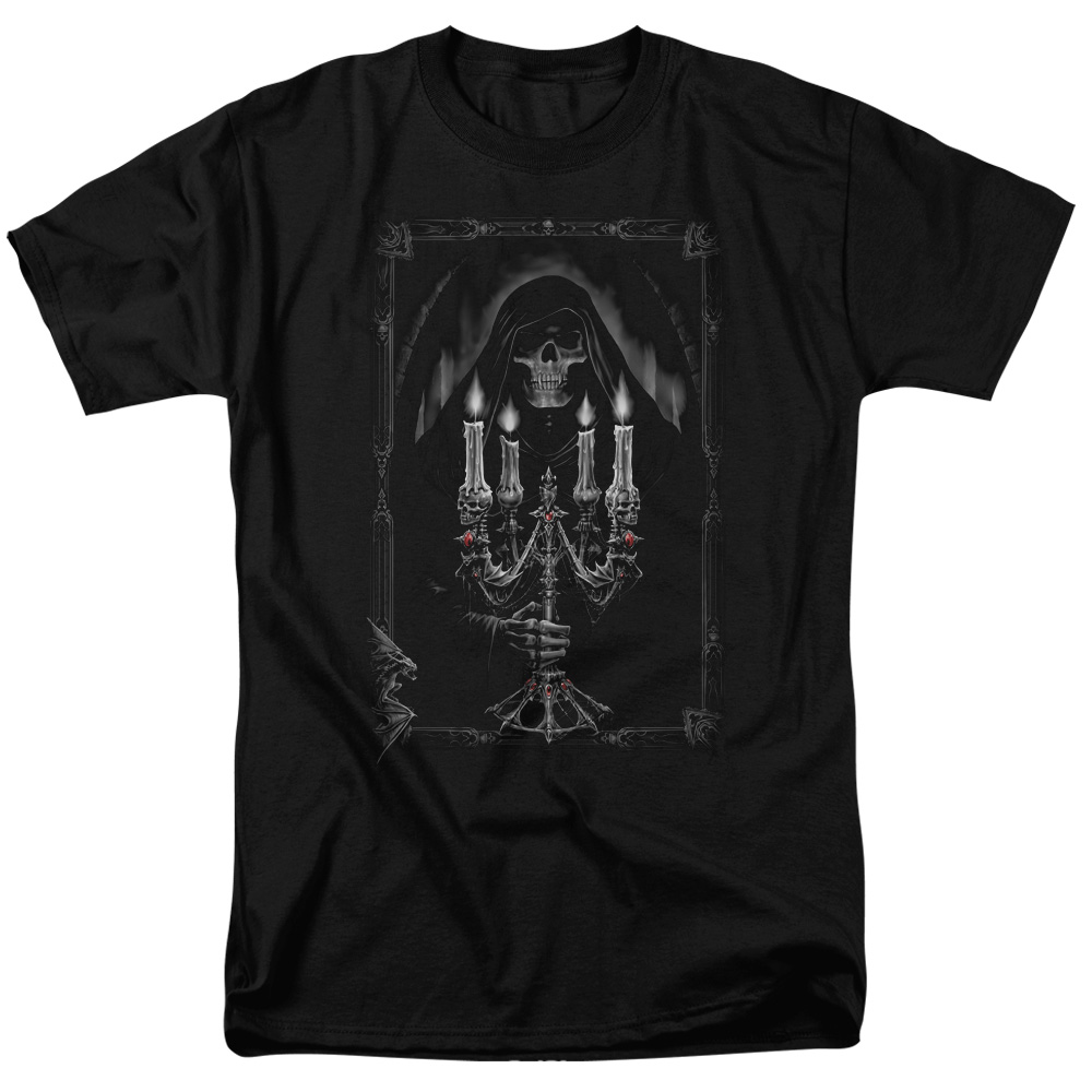 Anne Stokes Candelabra Mens Short Sleeve Shirt