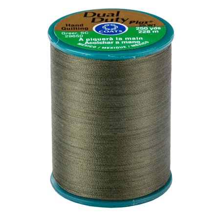(Coats & Clark Dual Duty Hand Quilting Thread- 250 yds, BRONZE GREEN)