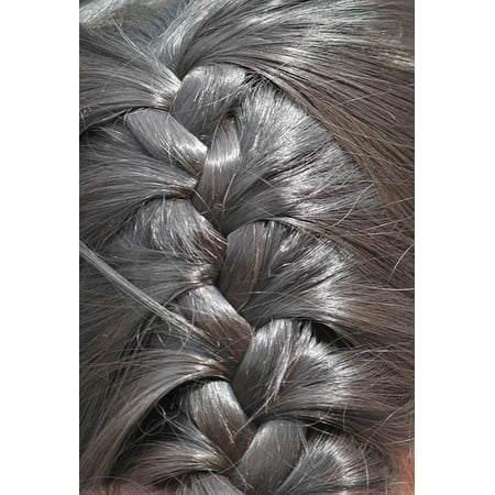 Canvas Print Woven Weave Hair Hairstyle Hairstyles Plait Stretched Canvas 10 x