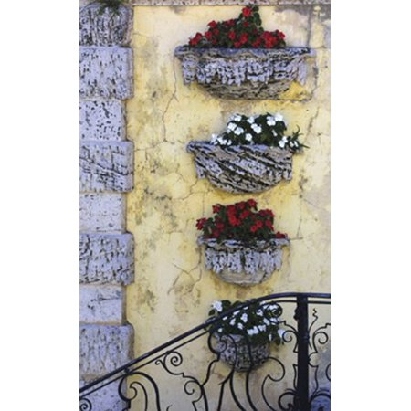 - Antique Iron Rail III by Barbara Ellison 7x5 (card) PosterSTAIRWAY FRONT ENTRANCE FLOWER BOxES HAND RAIL VINTAGE FLORAL STEPS