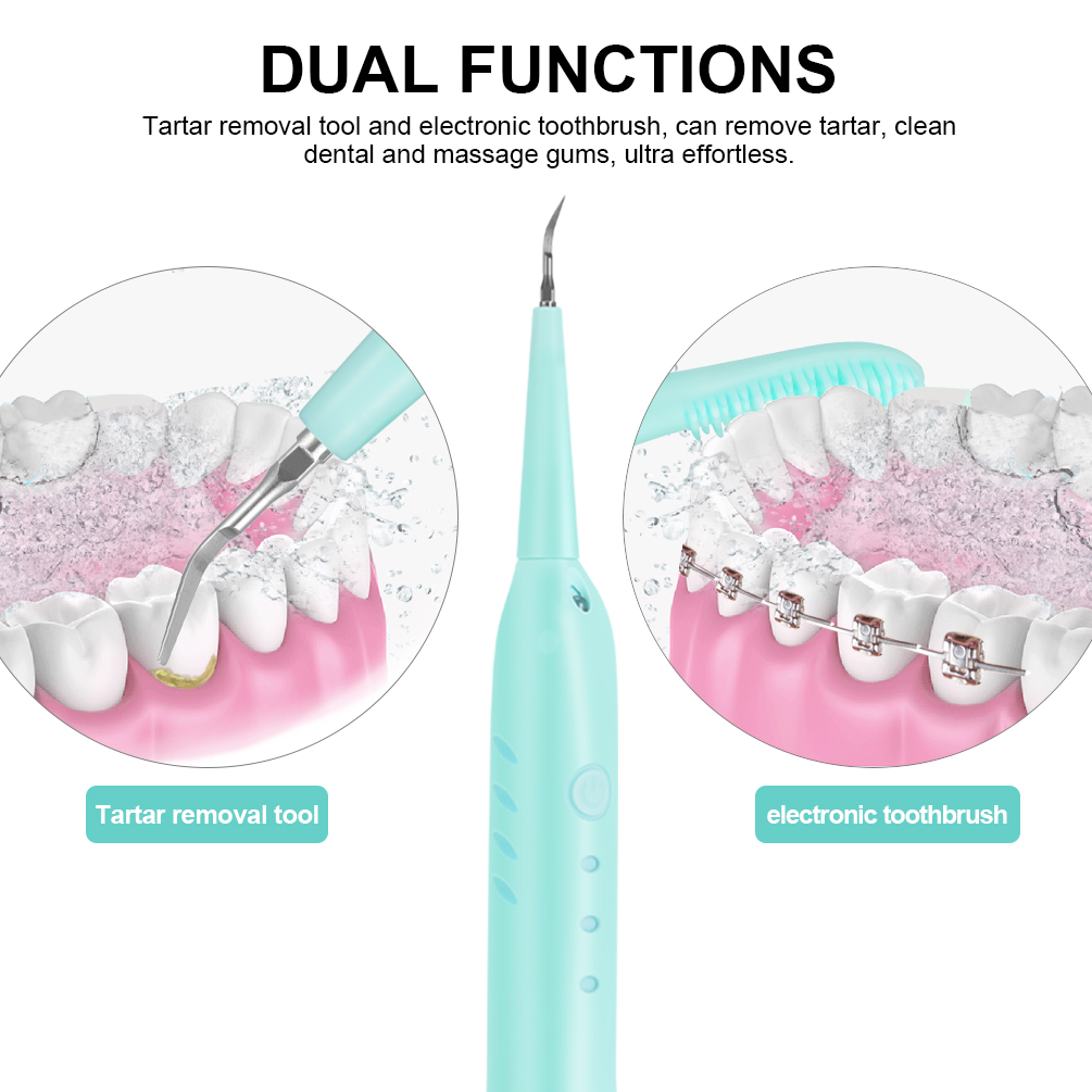 Electric Dental Calculus Remover Teeth Cleaning Dental Tool Kit Plaque  Remover, Tartar Removal, Teeth Cleaning and Teeth Whitening, 3 Replaceable  Cleaning Heads, Blue - Walmart.com - Walmart.com