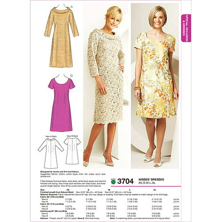 Kwik Sew Pattern Dresses, (XS, S, M, L, XL) (70s Sewing Patterns)