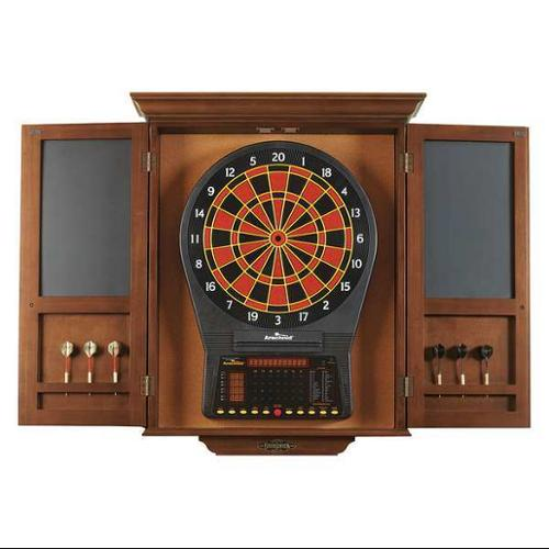 BRUNSWICK BILLIARDS 51870575002 Dartboard Cabinet,Wood,Electronic,Poplar