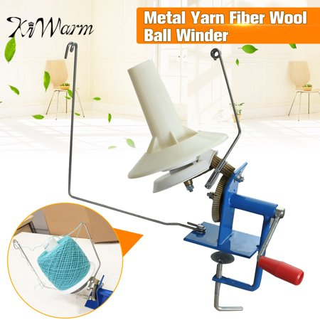 Heavy Duty Metal 10oz Yarn Fiber Wool Ball Winder Hand Operated Manual Needle craft Tool Machine for DIY Crocheting & Knitting - Yarn Crafts
