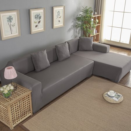 Sonew Polyester 3+2 Seat Corner Sofa Cover L Shape Slipcover ...