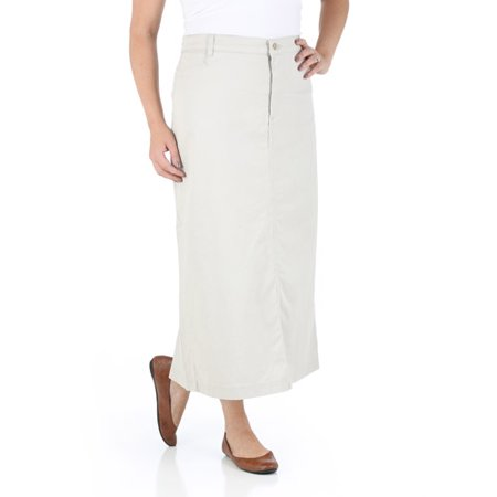 Women's Long Stretch Twill Skirt