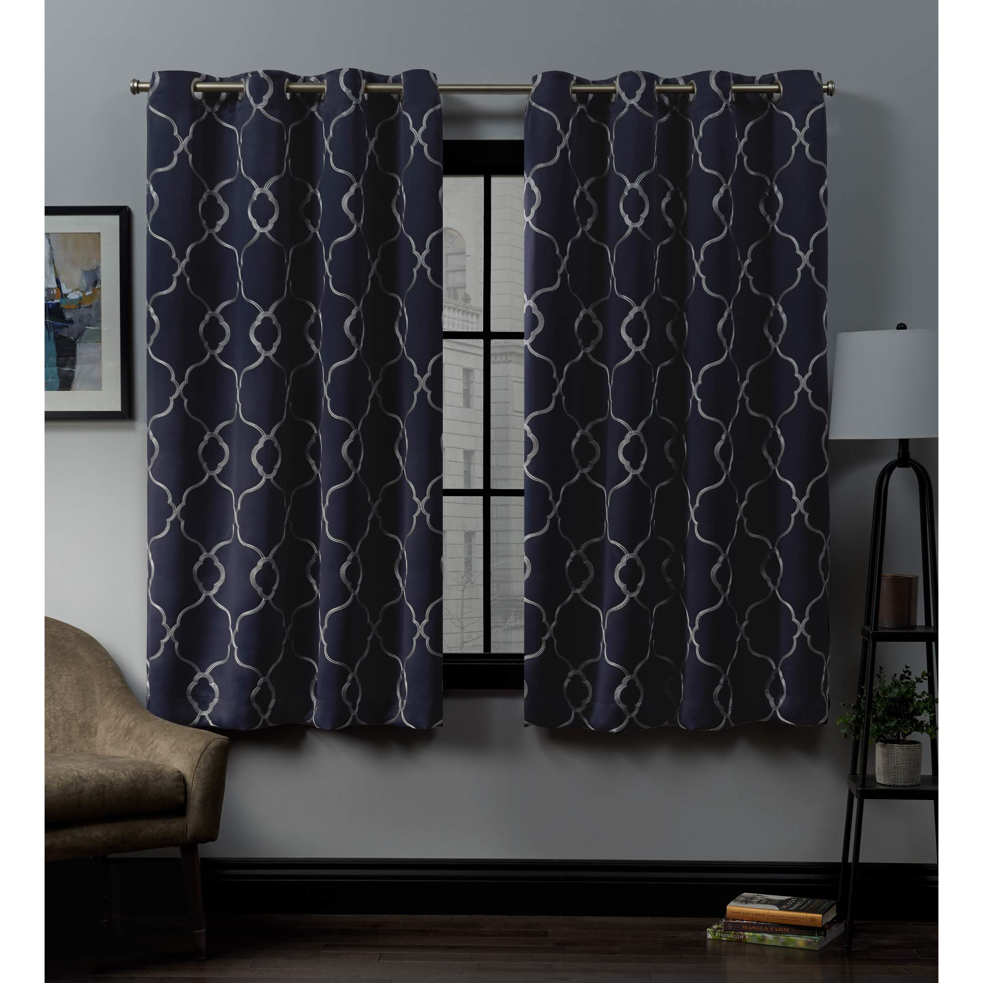 Exclusive Home Belmont Woven Blackout Grommet Top Curtain Panel Pair