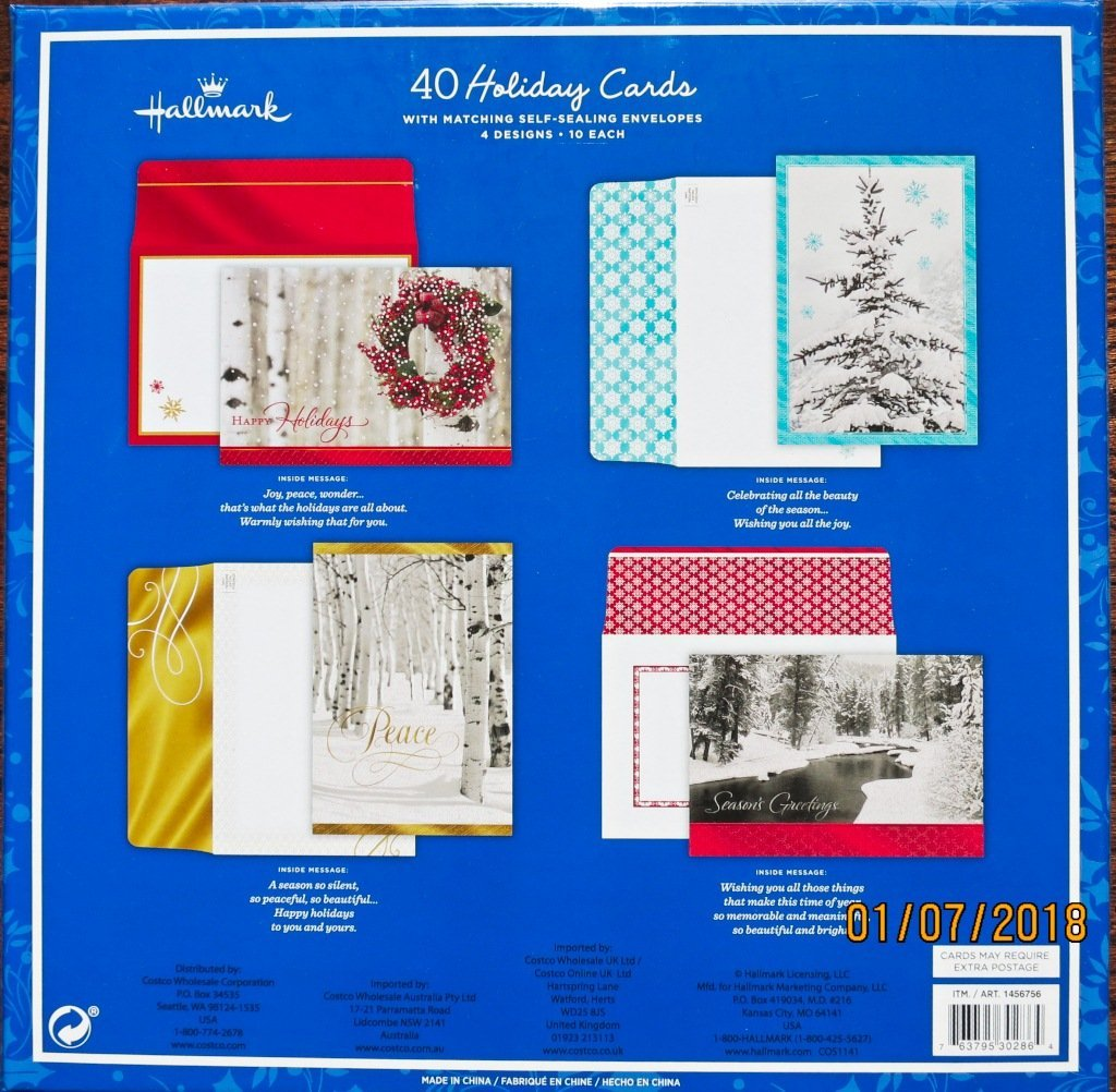 Hallmark 40 Count Holiday Christmas Cards With Envelopes Season S Greetings Walmart Com Walmart Com
