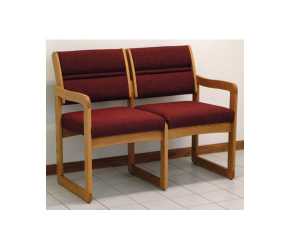 Two Seater Sofa (Light Oak And Black)