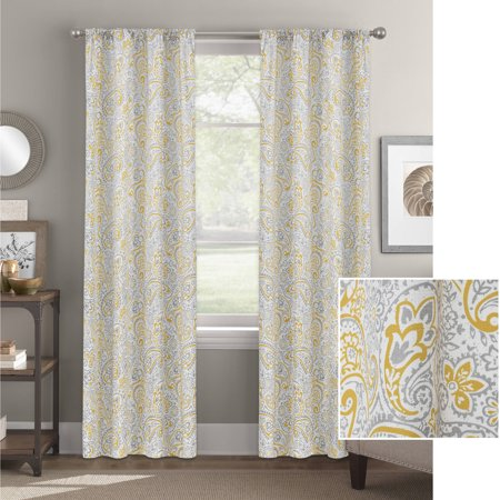 Better homes and gardens scalloped paisley curtain panel Better homes and gardens curtains
