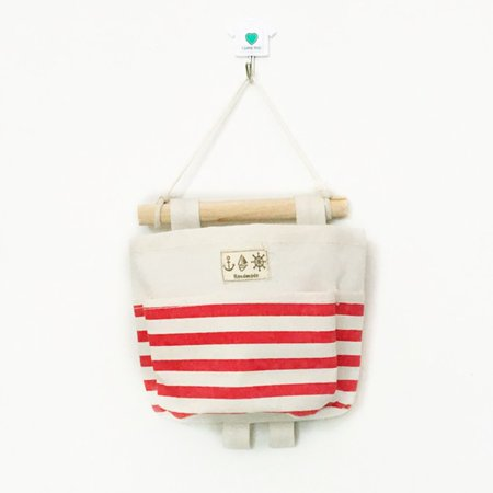 Joyfeel Clearance Stripe Single pocket hanging bag Holder Storage basket Rack makeup Cosmetic organizer box ()