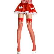 Fishnet Thigh Hi Nylon With Bow Costume Stocking Hosiery