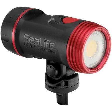 SeaLife SL6712 Sea Dragon 2500 UW Photo/Video Light Head includes Light Head, Battery & Charger