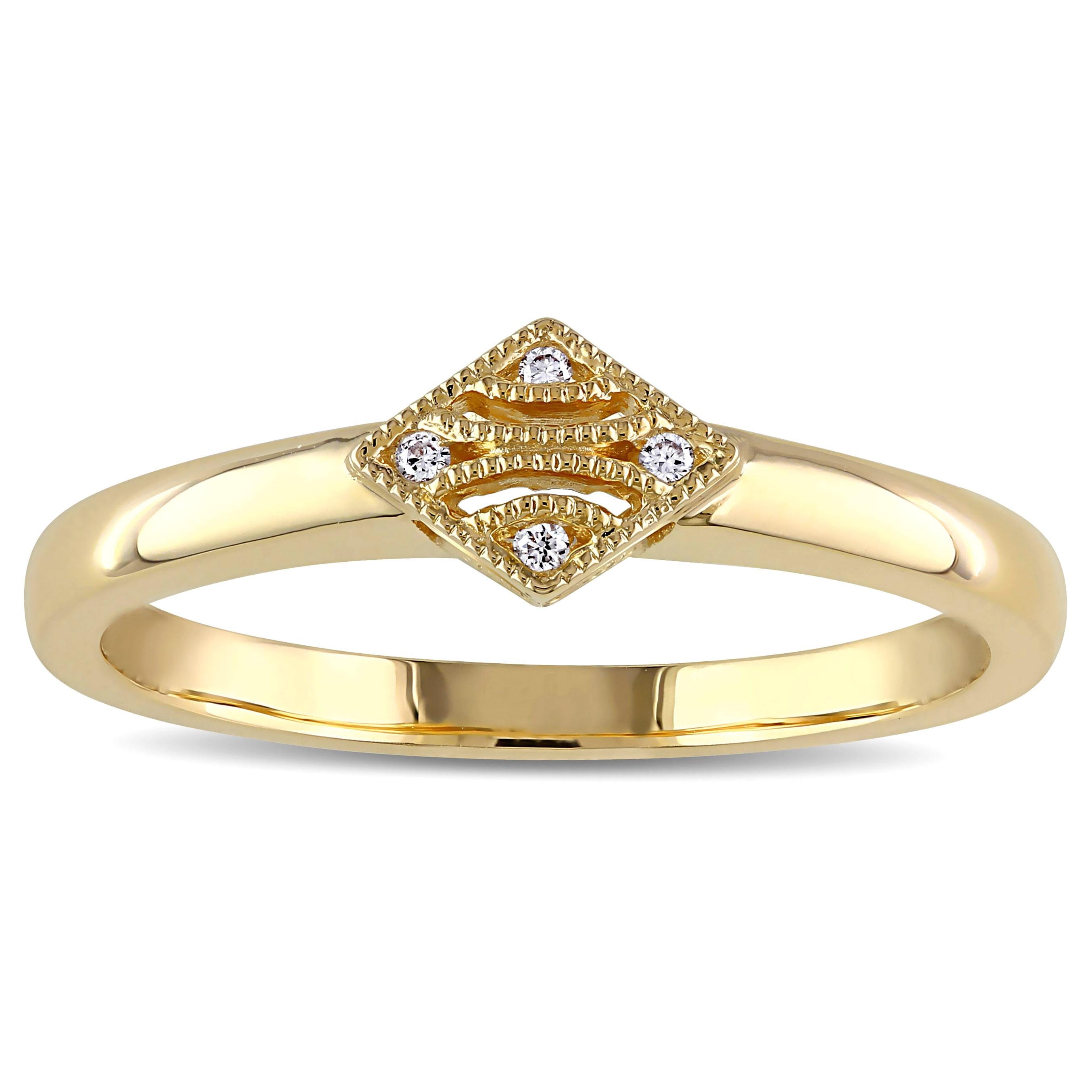 V1969 Italia  Diamond Accent Tapestry Ring in 14k Yellow Gold