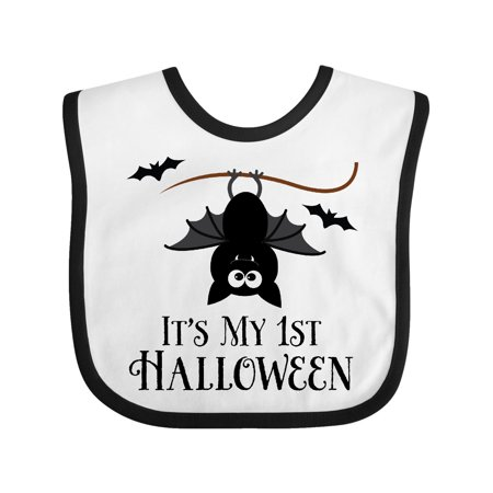 1st Halloween Bat Baby Bib](Halloween Bibs)