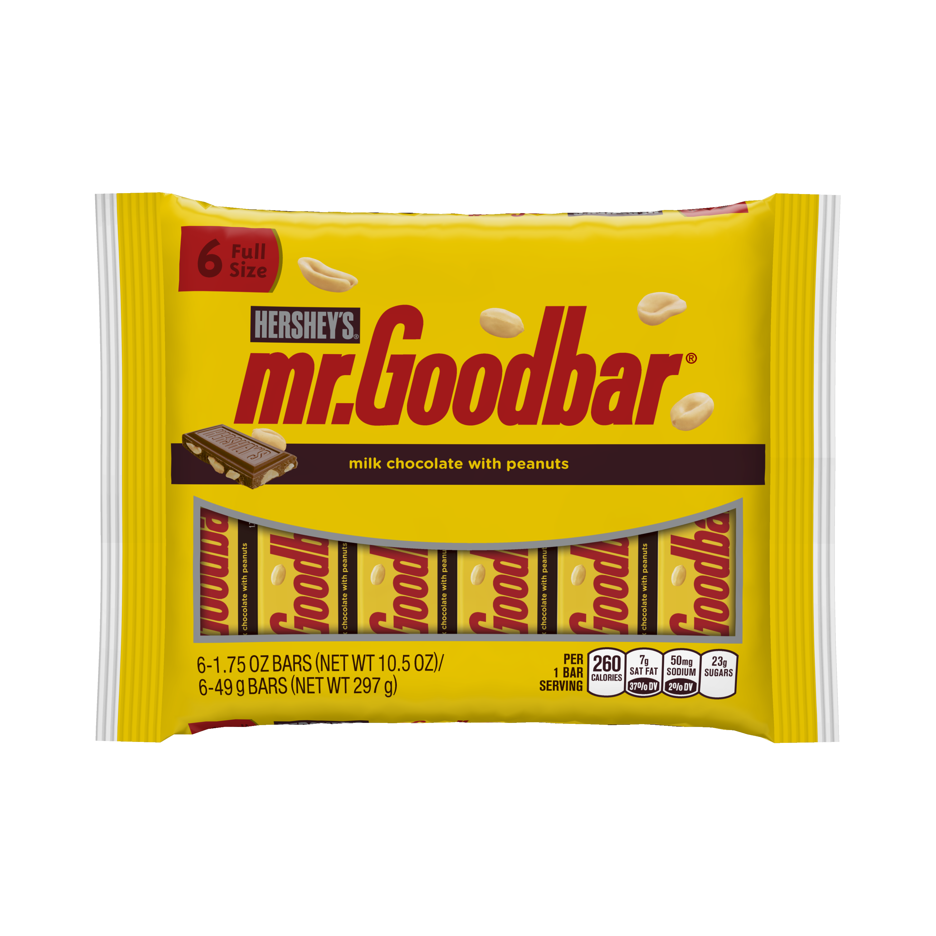 MR. GOODBAR Milk Chocolate Bars, 6 Count, 10.5 Ounces