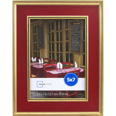 Mainstays Kristoff 5x7 Red Gold Picture Frame Walmartcom