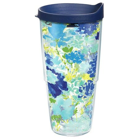 Tervis 24 oz. Fiesta Meadow Floral Travel Tumbler 24 oz. Tumbler Blue multi ()