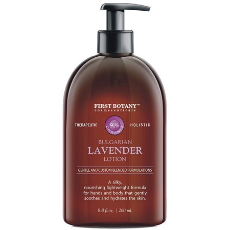 Lavender Oil Crème lotion 9 fl oz - Organic, Moisturizing, Hydrating, Anti aging and Massage lotion - the best body lotion for men and women that works on your face, neck, hands, hairs and