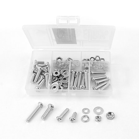 Uxcell 93 in 1 M5 M6 Oval Head Screw Bolt Nut Spring Flat Washer Set Kit Fasteners