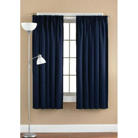 Hang Drapery Panels (Mainstays Room Darkening Curtain)