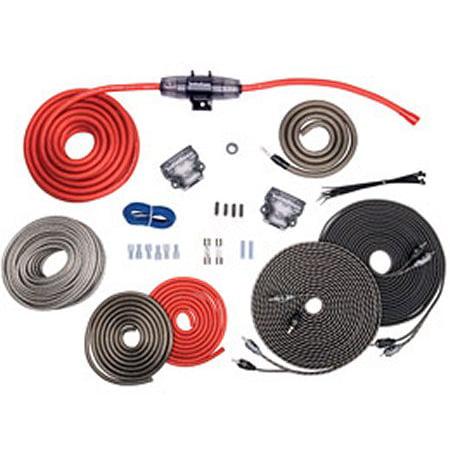 Rockford Fosgate RFK4D 4-Gauge Dual Amplifier Installation Wiring Amp on