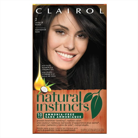 Clairol Natural Instincts Semi-Permanent Hair Color, Black Midnight ...
