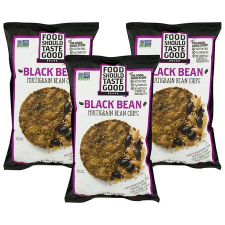(3 Pack) Food Should Taste Good Black Bean Multigrain Chips, 5.5 oz - Good Ideas For Halloween Food