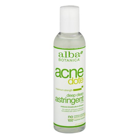 Alba Botanica Acnedote, Deep Clean Astringent, 6 Ounce -