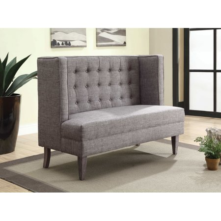 Furniture of America Monaco High Back Light Gray Dining Bench