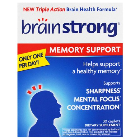 Brain Strong Memory Caplets, 30 count