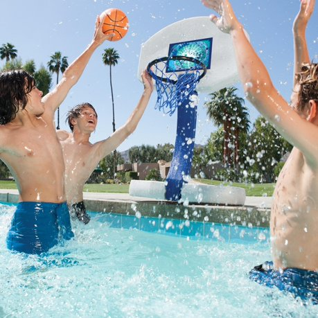 2 In 1 Basketball And Volleyball Swimming Pool Water