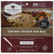 Camp Food, Teriyaki Chicken & Rice, 2-serving Pouch, Wise , 03-703