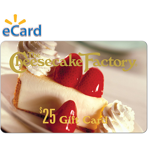 The Cheesecake Factory $25 (email delivery)