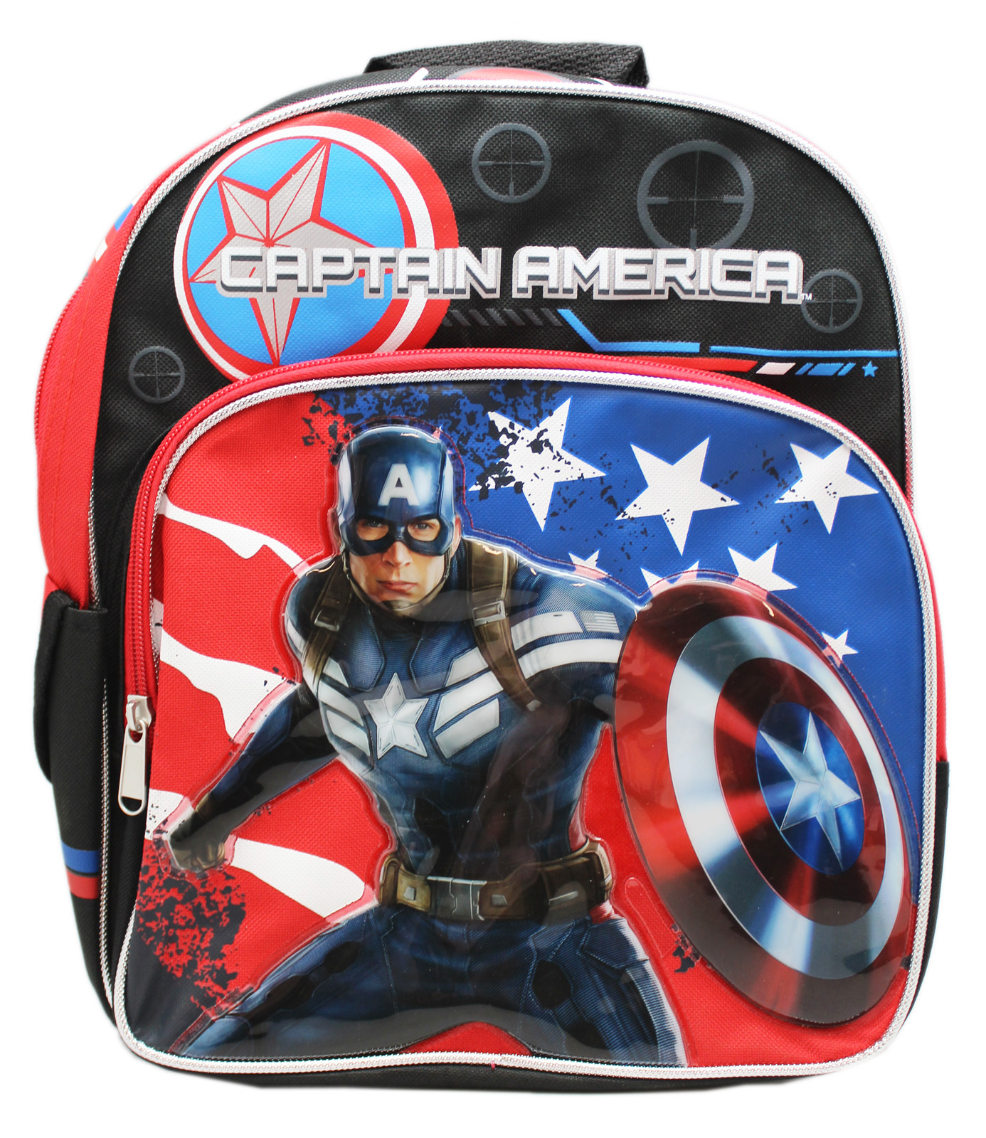 Captain America: The Winter Soldier Stars and Striped Small Kids Backpack (12in) by