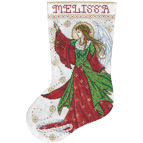 """Angel Of Joy Stocking Counted Cross-Stitch Kit, 17"""", 14-Count"""