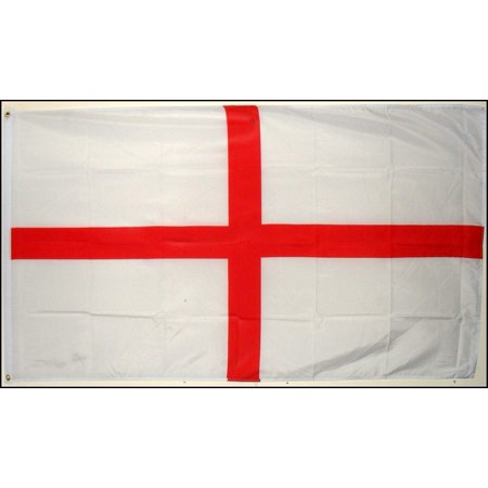 ST GEORGE CROSS ENGLAND FANS FLAG DECORATION RUGBY WORLD CUP WITH EYELET 5 X 3FT ()