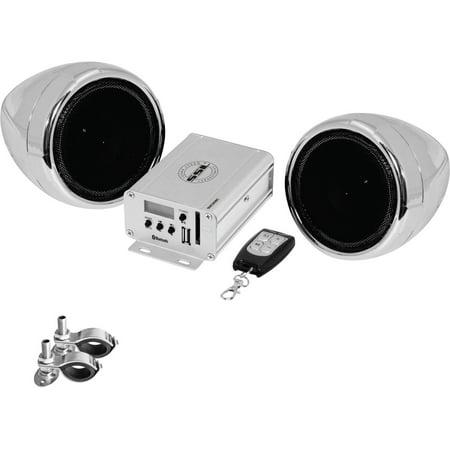 Planet Audio SMC80BC Chrome 600 Watt Motorcycle/ATV Sound