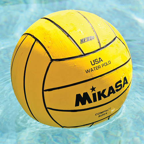 Mikasa Varsity Water Polo Ball, Compact Size 4