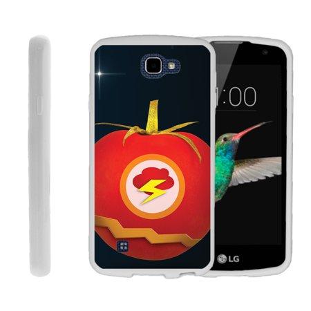 LG K4, LG Rebel LTE, LG Spree, LG Optimus Zone 3, Flexible Case [FLEX FORCE] Slim Durable TPU Sleek Bumper with Unique Designs - Flash Tomato