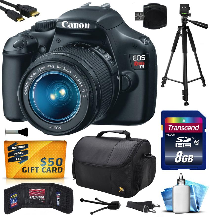 Canon EOS Rebel T3 1100D Digital Camera w/ 18-55mm Lens (...