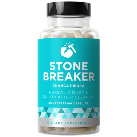 Stone Breaker Chanca Piedra - Natural Kidney Cleanse & Gallbladder Formula - Detoxify Urinary Tract, Flush Impurities, Clear System - Hydrangea & Celery Seed Extract - 60 Vegetarian Soft (Best Way To Pass Kidney Stones Naturally)