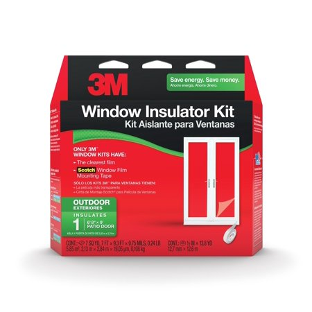 Foam Tapes: 3M Other Materials 84 in. x 112 in. Outdoor Patio Door Insulator Kit Clear 2174W-6 ()