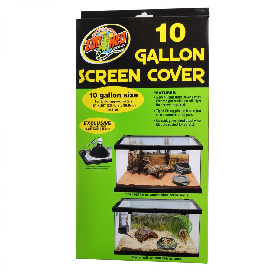 Zoo Med Animal Habitat 10 Gallon Screen Cover 20 Long x 10 Wide - Pack of 3